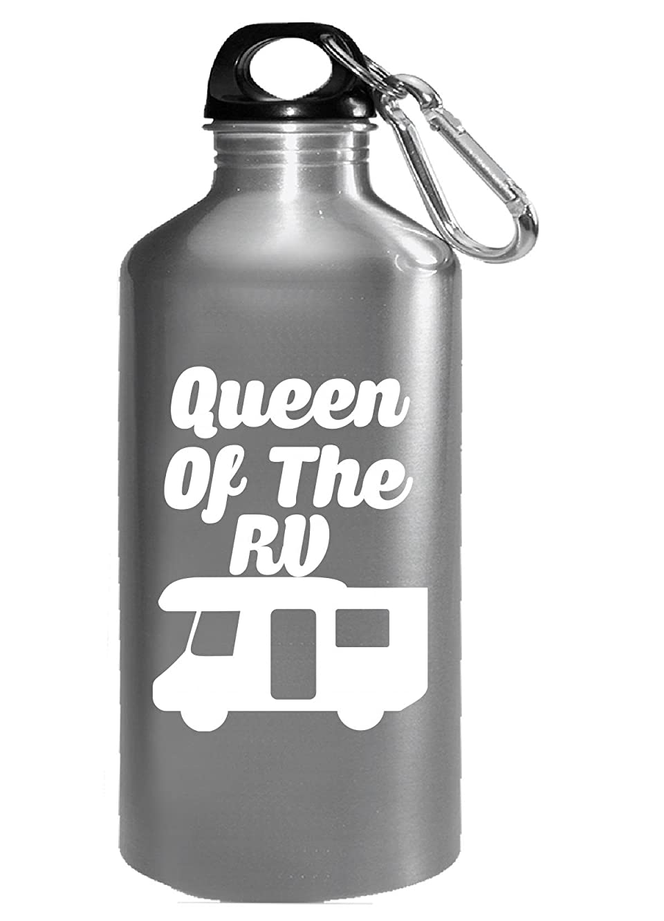 Queen Of The Rv Camping Campfire Hotdog Roast Smores No Tent - Water Bottle