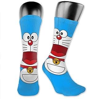 Happy Doraemon Calcetines de compresión Calcetines de fútbol Calcetines altos Calcetines largos Deportes al aire libre para hombres Mujeres
