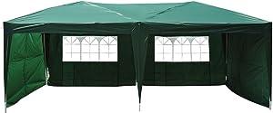 Outsunny Tonnelle Barnum Tente de réception Pliante 3 x 6 m Vert + Sac de Transport