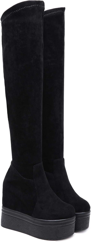 HBDLH Damenschuhe Im Winter Über Knie-Stiefel Heel 12 12 12 cm Steigung Ferse Ferse Super Hoch Nachtclub Sexy Verstärkt In Dicken Hintern Hohe Fass Gummi Stiefel 4a6df7