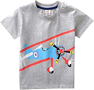 Baby Kid Boy Short Sleeve T-Shirt Casual Cartoon Soft Cotton Blouse 2-8T