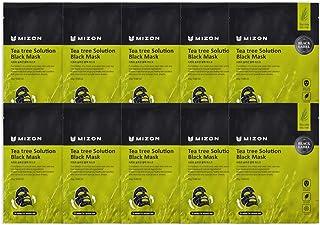 Mizon Solution Black Mask Volcanic Ash with Minerals, Far-Infrared Radiation for Detox, Deep Clean Skin, Black Mask Sheet ...