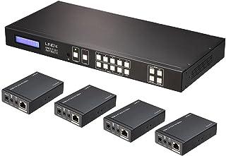 Lindy 38143 Matrice/Extender HDMI e IR 4x4 Cat.6 con Ricevitori, 50m
