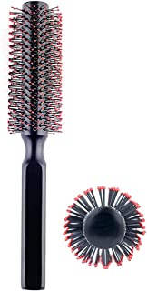 Round Hair Brush for Blow Drying, Wooden Blowout Brush With Soft Nylon Bristles, for Medium Or Short Hair