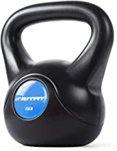 RitFit Fitness Kettlebell Weight with Plastic Shell for Home Use and Home Workout, Include 10lbs,15lbs,20lbs, 25lbs
