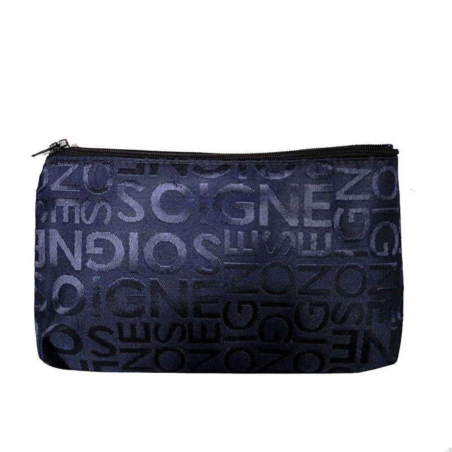要求著者スマート女性ポータブル多機能美容ジッパー旅行化粧品バッグ by zhuyuanhai (Color : Dark Blue, サイズ : M)