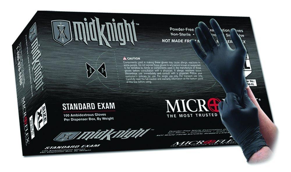 Max 69% OFF Microflex MK-296-XXL MidKnight Black Gloves Exam Powder-Free 2 Max 72% OFF