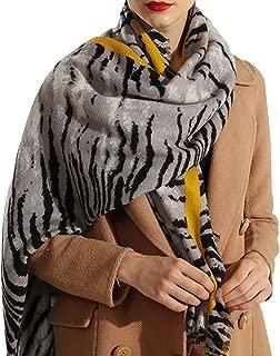 Animal Print Women Long Scarf - Lightweight Soft Pashmina Shawl Scarves Stole Wrap Cape Ladies Clothing Accessory Neckerchief Leopard Print Tassel