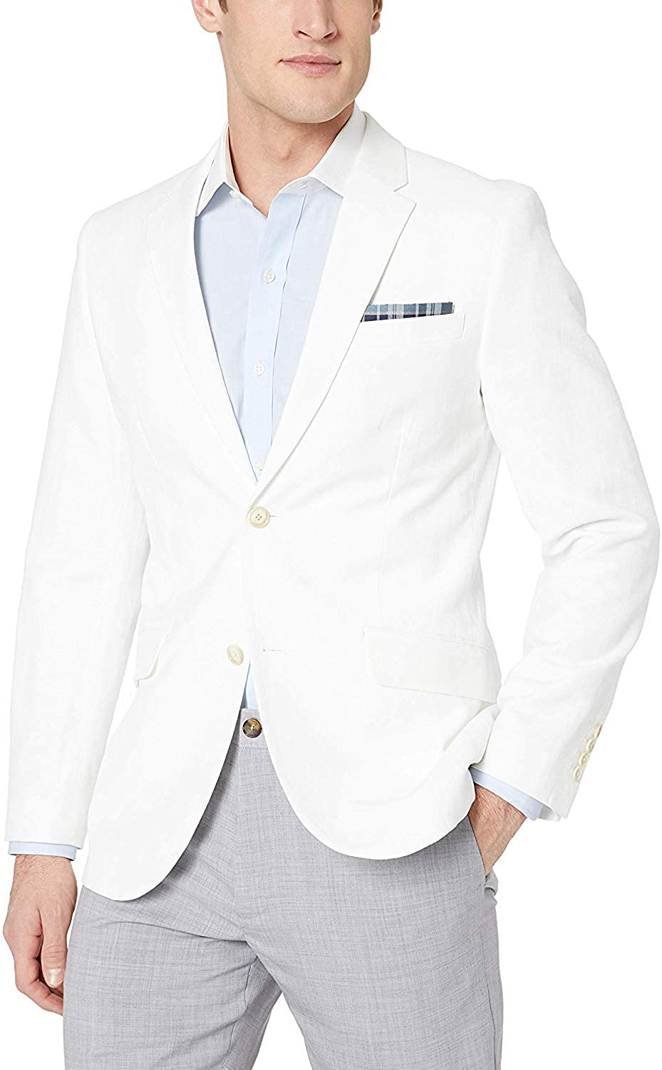 Perry Ellis Men's Slim SEAL limited product Jacket Linen Clearance SALE! Limited time! End Fit