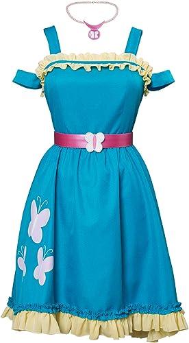 MingoTor Anime Fluttershy Kleid Cosplay Kostüm Blau Ma fertigung