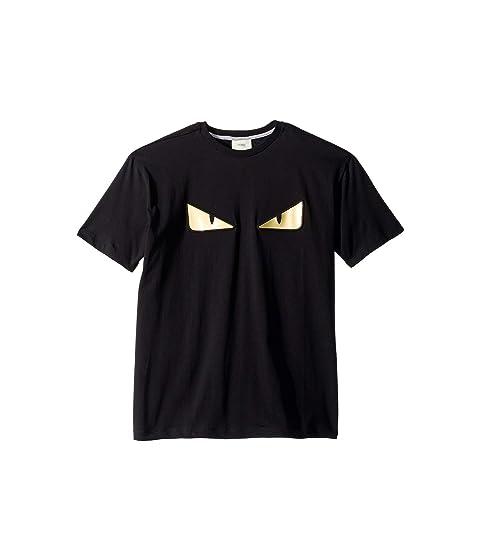 Fendi Kids Short Sleeve Monster Eyes T-Shirt (Big Kids) at Luxury ... 1119d813272