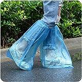 LIMMC Alargar pares Venta caliente Médica Impermeable Antideslizante Cubiertas de botas Cubiertas de zapatos desechables de plástico Cubrebotas Botas de lluvia de seguridad, 50 pares, 47 cm x 35 cm
