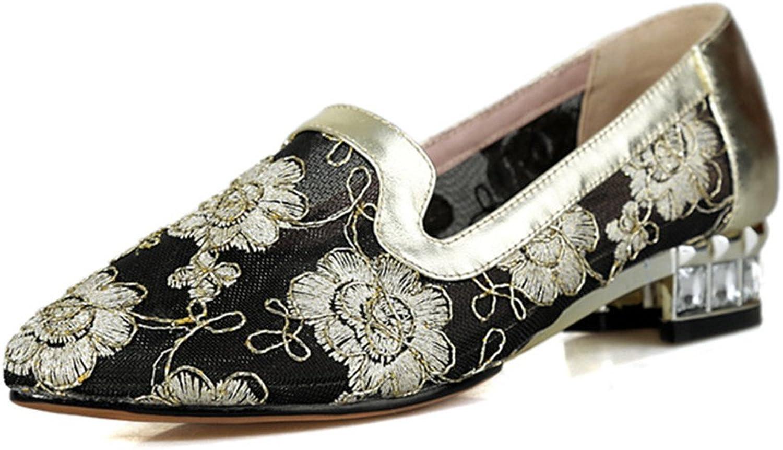 Nio Sju äkta äkta äkta läderskor, kvinnors spetsiga tåskor, eleganta klackar, glider på handgjorda pumpskor.  populär