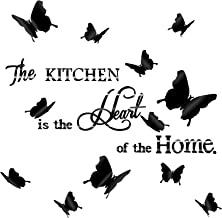 Pegatinas de Pared Espejo de The Kitchen DIY con 12 Piezas Pegatinas Murales Extraíbles de Mariposa 3D para Etiqueta de Pa...