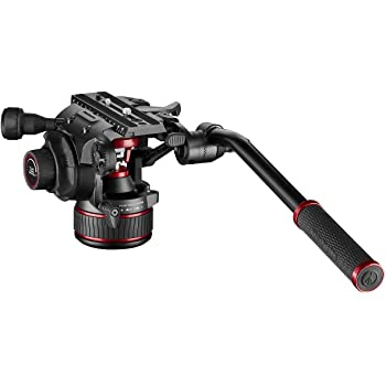 Manfrotto Nitrotech Fluid Video Head for DSLR, Mirrorless, Video and Cinema Cameras - Continuous Counterbalance System 0-17.6lbs - Variable Continuous Fluid Drag System - 17.6lbs Payload - MVH608AHUS