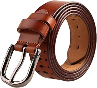 uxcell® Women Hollow Fashion Belt Casual Belt for Jeans with Single Prong Buckle