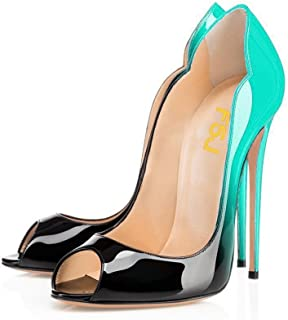 Details about  /Womens Patent Leather Pointed Toe Stilettos Med Kitten Heels Clubwear Prom Shoes