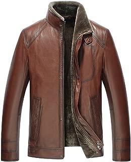 Men's Brown Shearling Lambskin Jacket CW858106