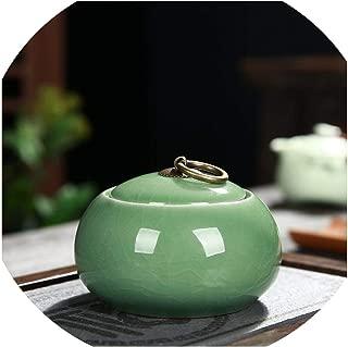 Traditional Chinese Tea Box Ceramic Tea Storage Vintage Lovely Green Tea Caddies For Coffee Powder Organizer Cans White Teaware,6