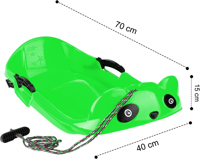 En plastique Long cordon de serrage WOTEK Luge Bob en forme de panda 2 poign/ées Avec protection de freinage
