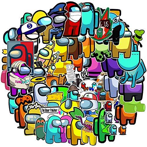 WUWEI Juego Doodle Pegatina Maleta teléfono móvil Ordenador portátil Pegatina Decorativa Impermeable 50 Uds
