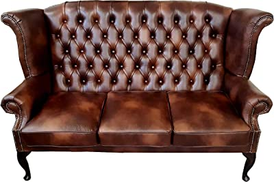 Designer Sofas 4 U Chesterfield Suite en Antiguo Rojizo ...