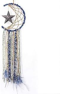 鸿飞追梦者波西米亚风格,现代时尚的半圆形月亮设计,羽毛点缀,为梦想带来好运和祝福的手工艺品,摆在卧室,客厅等地方。