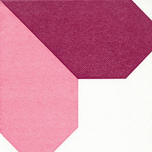 PWI 12 x Origami SERVIETTEN Herzen (ROSA/LILA) EINFACHE TISCHDEKORATION - Made IN Germany