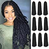 9 Packs Passion Twist Hair 18 Inch Passion Twist Crochet Hair Braids Long Bohemian Water Wave Crochet Hair for Black Women