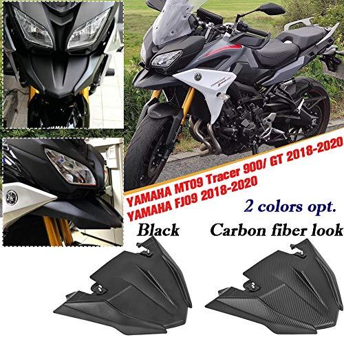 AHOLAA per Yamaha MT-09 MT09 Tracer 900 GT FJ09 FJ-09 2018 2019 2020 Copertura di estensione del cono del becco del parafango del parafango della ruota anteriore Moto fibra di carbonio (Nero)