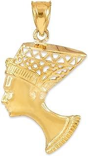 nefertiti gold charm