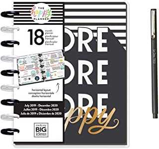 Create 365 Classic Happy Planner – Sugar & Type – 18 Months 2019 – 2020 + Uchida Le Pen 0.3mm Black Pen