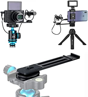 Soporte de extensión de zapata fría para micrófono/luz LED compatible con cámara Sony RX100 VII A6100 A6400 A6600 Canon G7X Mark III EOS M6 Mark II GoPro Hero DJI OSMO cámara de acción y smartphone