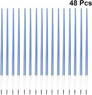 modelos artesanales pintura de maquetas a escala Pinceles en miniatura de pelo de comadreja Juego de brochas de pintura de 6 piezas con detalles finos para pintura de acuarela acr/ílico y delineador