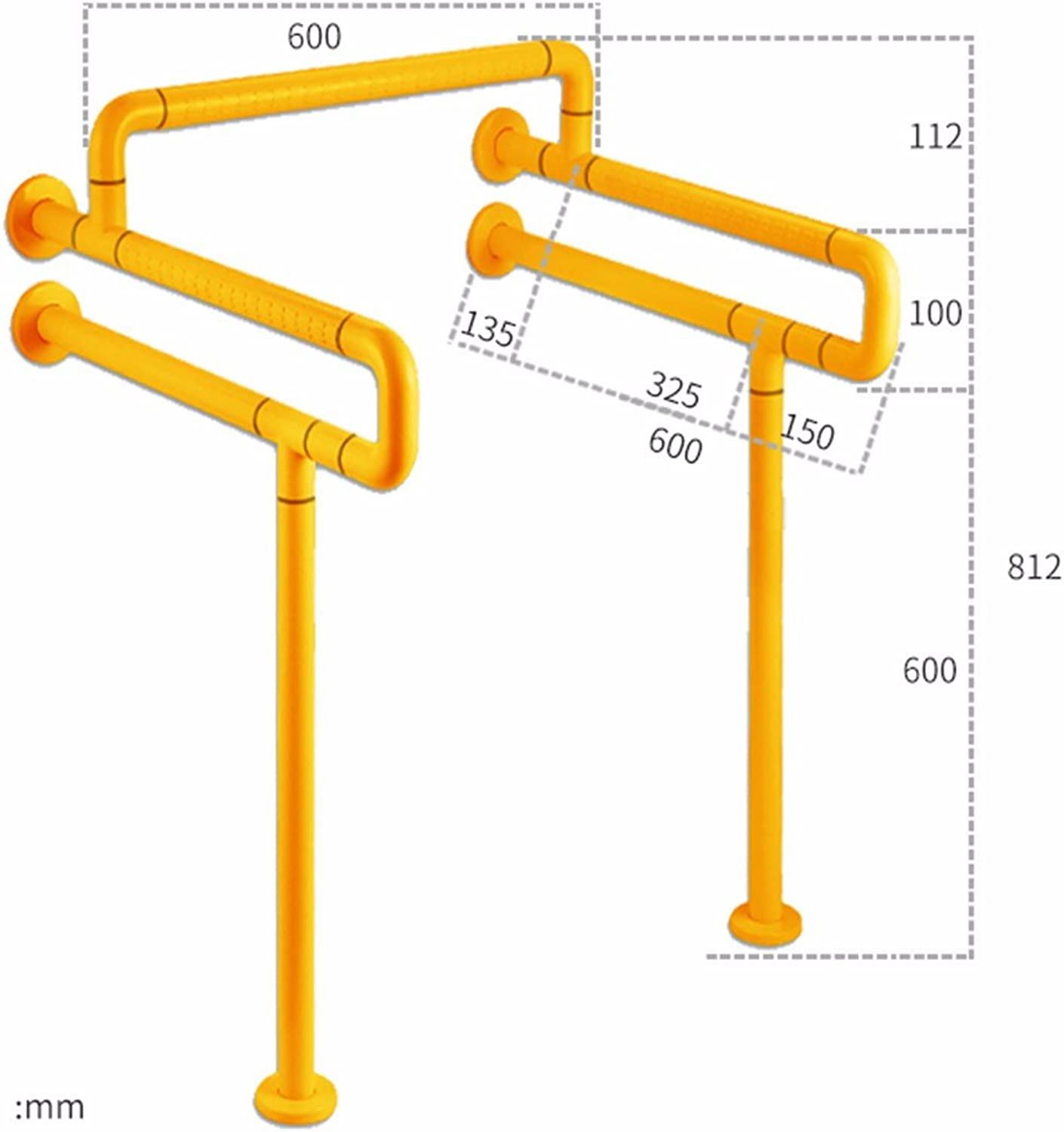CJSHVR-Toilet, Toilet, Toilet, Barrier Free Lift, Antiskid Safety Handrails for Toilet,A,Yellow