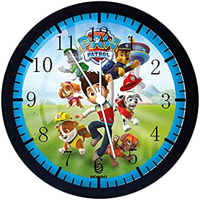 """Paw Patrol Wall Clock 12"""" Glass Large Silent Non-Ticking Nice for Gift or Wall Decor E69"""