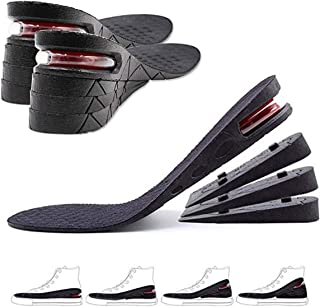 GULIQ Height Increase Insole,Insole Lift Kit,4-Layer 3CM-7.5CM Orthoric Heel Shose lift Kit Variable Height Adjustable wit...