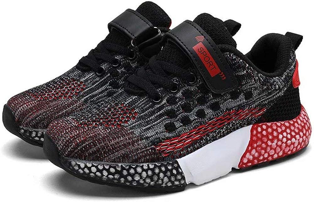 SANNAX Boys Girls Running Shoes Fashion Sneakers Casual Lightweight Tennis Walking Athletic Shoe Non-Slip Outdoor Jogging Footwear for Little Big Kids Sports