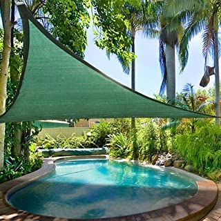 Petra's 20 Ft. X 20 Ft. X 20 Ft. Triangle Green Sand Sun Sail Shade. Durable Woven Outdoor Patio Fabric w/ Up To 90% UV Protection. 20x20x20 Foot.
