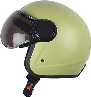 Virgo helmet ISI Certified BLT Color Yellow Matt finish Tinted visor
