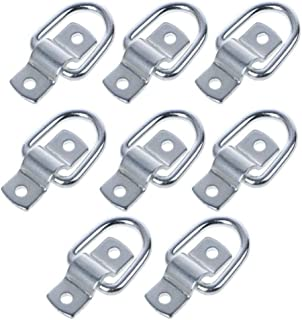 8 Pack Lashing Rings D Ring tie Down Hooks,D-Rings Anchor 1200 lbs Capacity Trailer Anchors Points,with Mounting Bracket T...