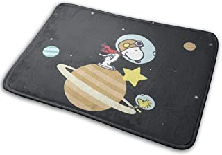 "Welcome Astronaut Snoopy Door Mat Indoor Outdoor Entrance Rug Floor Mats Rubber Floor Mat Thin Non Slip Carpets for Front Door Mat 15.7"" X 23.5"""