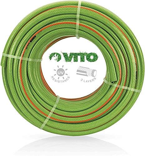 """VITO Garden 50 m PVC Gartenschlauch 25mm   1\"""" flexibel 20bar UV beständig - Wasserschlauch (50m 25mm 1\"""")"""