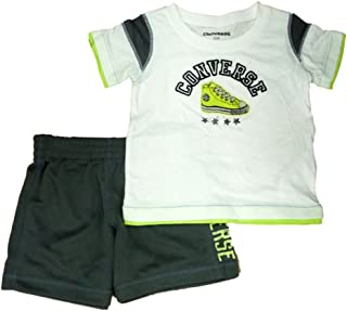 Converse Infant Toddler Boys 2 Piece Athletic T-Shirt Gray Mesh Shorts Set 750138e64