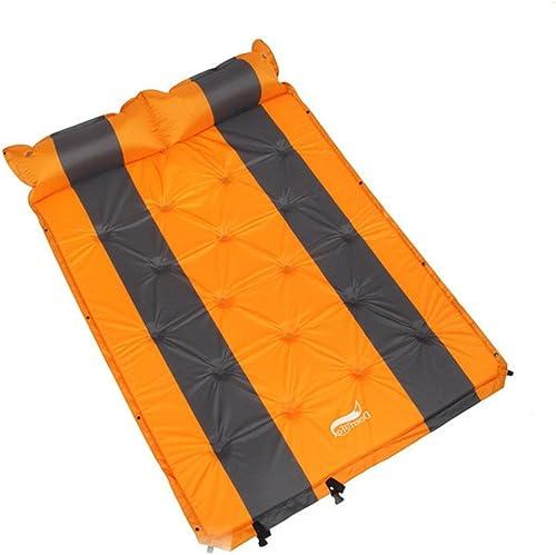 Produits d'extérieur La valve d'écoulement rapide avec l'oreiller gonflable attaché pour le camping extérieur et la double prougeection de sac à dos gonflable de randonnées pédestres, le matelas de somm