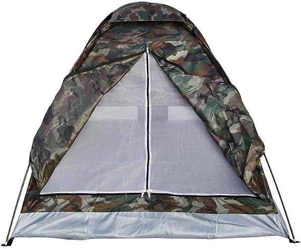 Tente de camping en plein air de tente de camping portable portable 2 personnes couche unique tente de drap de polyester PU1000mm