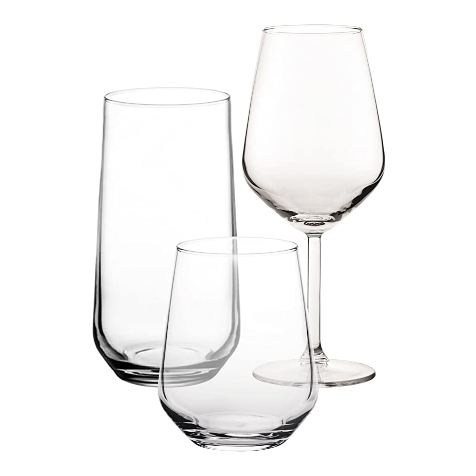 Pasabahce Premium Glass Set of 18 Pcs | for Wine, Soft Cold Drinks Water, Tumbler, Beverage | Lead Free