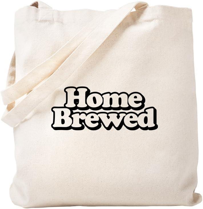 CafePress Home Brewed Tote Bag Natural Canvas Tote Bag, Reusable Shopping Bag