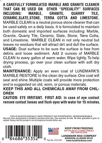 Lundmark Marble Cleaner, 32-Ounce, 3534F32-6