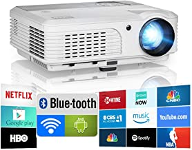 2020 Bluetooth Projector WiFi Android LCD LED Smart Video Projectors Home Theater 4400..
